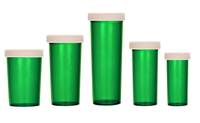 Green Veterinary Vials