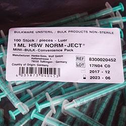 2-Part Luer Slip BULK Unsterile Syringe